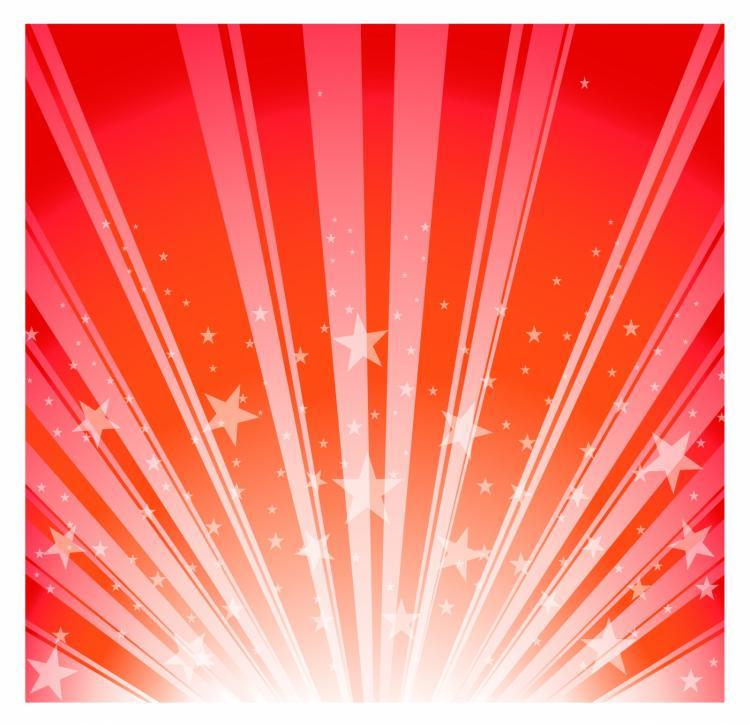 free vector Star burst - red