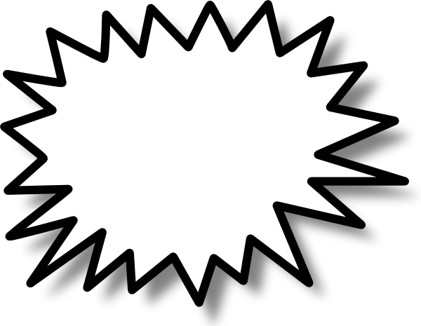 free vector Star Callout clip art