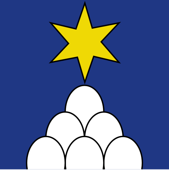 free vector Star Eggs Wipp Sternenberg Coat Of Arms clip art