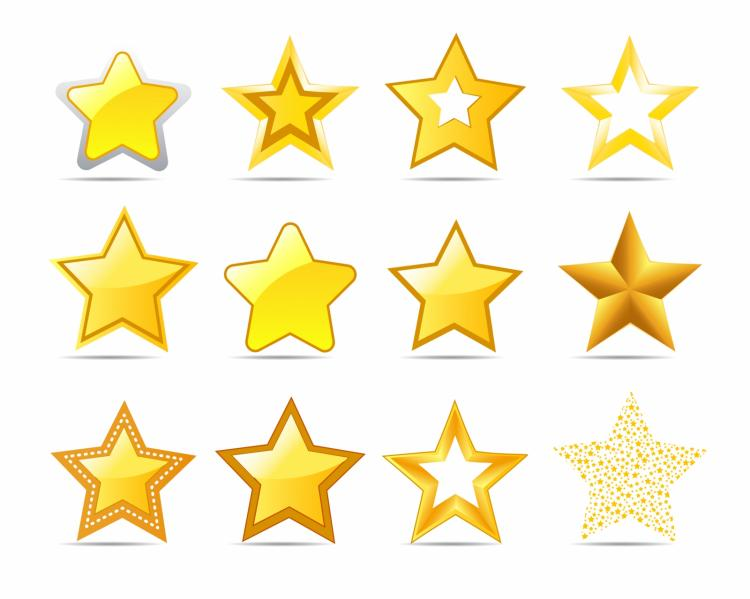 free vector Star icons
