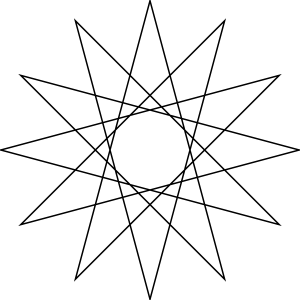 free vector Star Polygon clip art