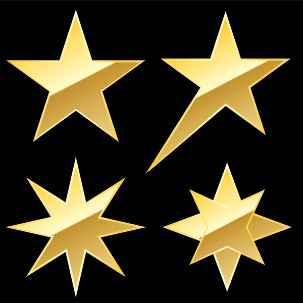 free vector Star theme vector