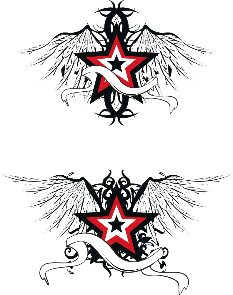 free vector Star wings vector
