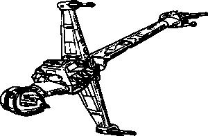 free vector Starfighter Starwars clip art
