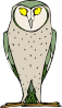 free vector Staring Standing Owl clip art