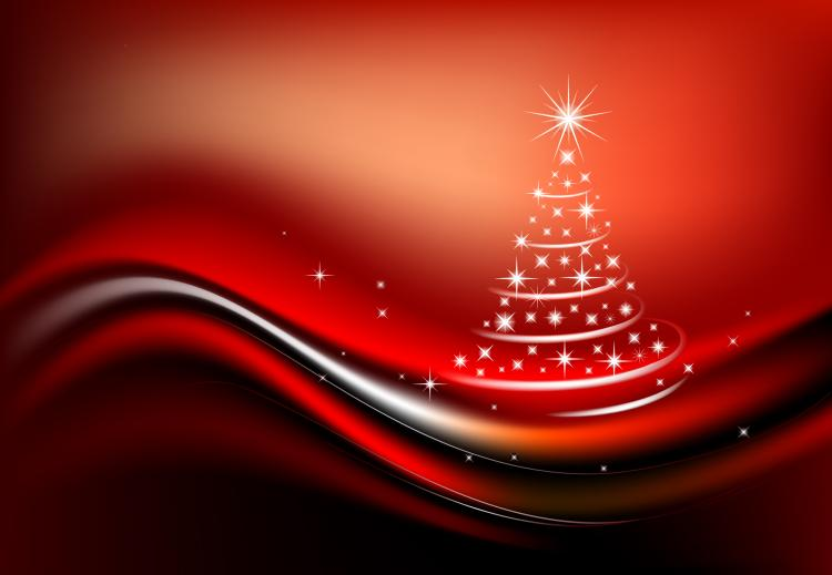 free vector Starlight christmas tree composed of vector