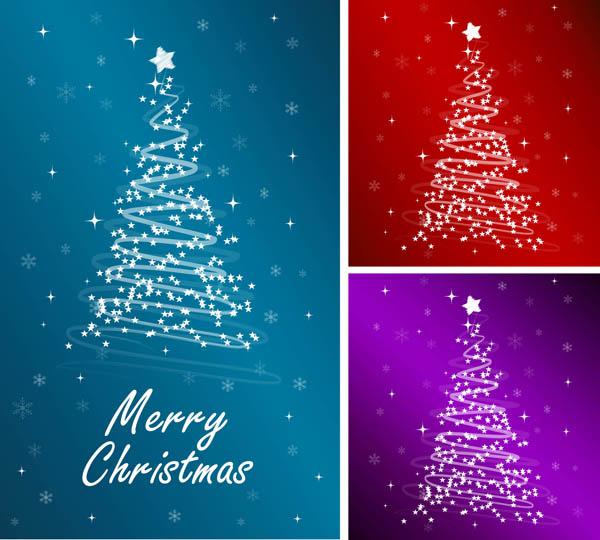 free vector starlight christmas tree vector