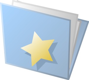 free vector Starred Folder clip art