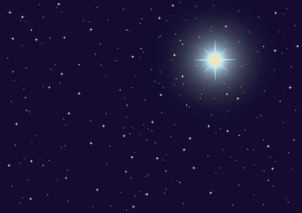 free vector Starry background vector