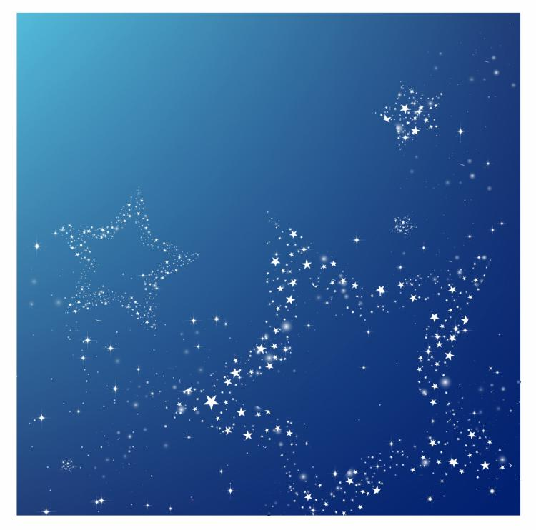 free vector Starry night (with copy space)