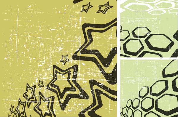 free vector Stars lovely illustrations vector