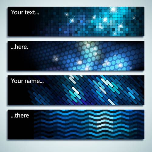 free vector Starstudded background banner vector