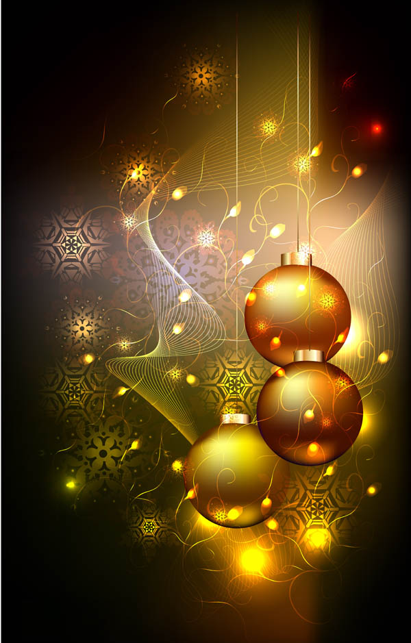 free vector Starstudded christmas ball background vector