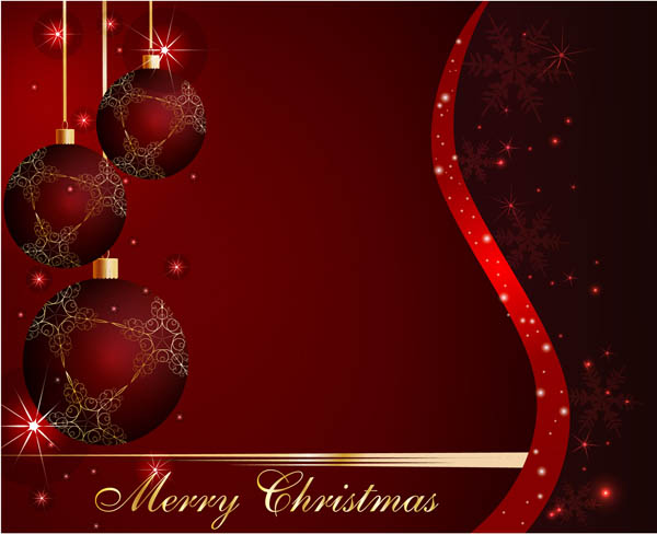 free vector Starstudded christmas ball background vector
