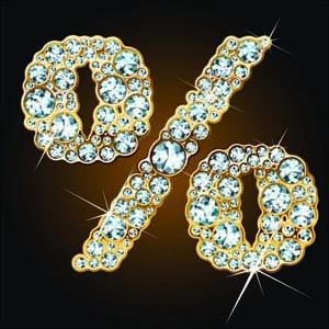 free vector Starstudded diamond number vector