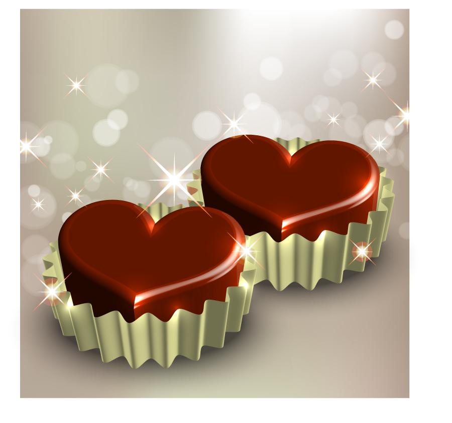 free vector Starstudded romantic heartshaped 02 vector