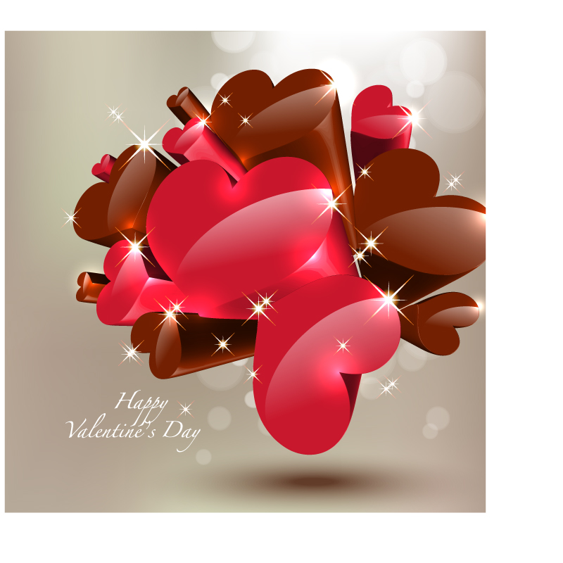 free vector Starstudded romantic heartshaped 05 vector