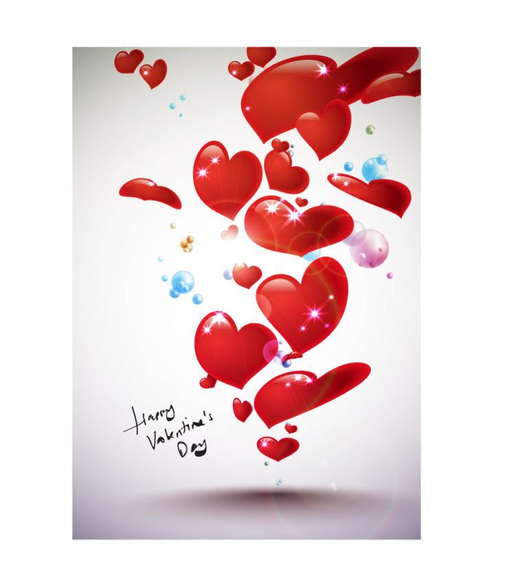 free vector Starstudded romantic heartshaped 06 vector