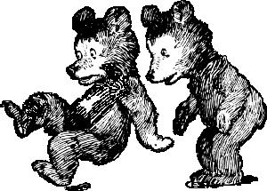 free vector Startled Bears clip art