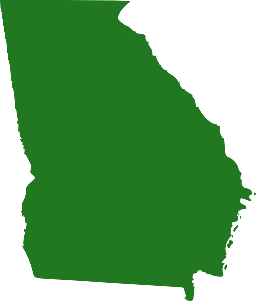 free vector State Of Georgia Map clip art