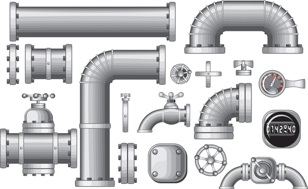 Steel iron pipe vector free