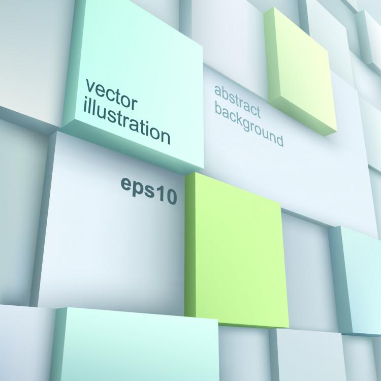 free vector Stereoscopic technology background 03 vector