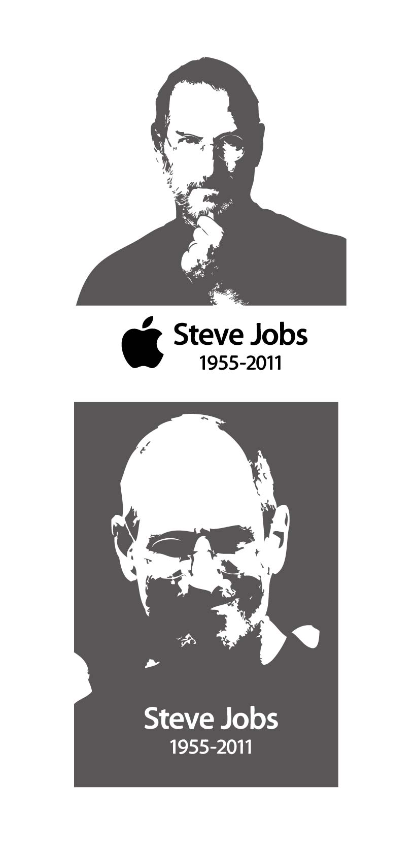 free vector Steve jobs steve jobs black and white vector