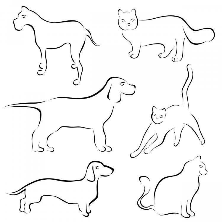 free vector Stick figure cartoon dog vector