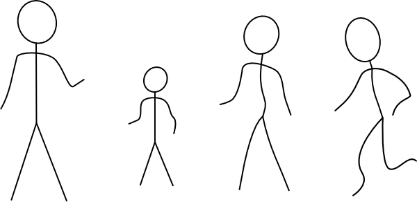 free vector Stick Figures clip art
