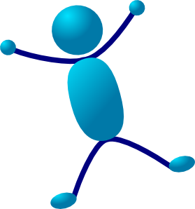 free vector Stick Man Hurray Jumping clip art