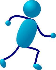 free vector Stick Man Running clip art