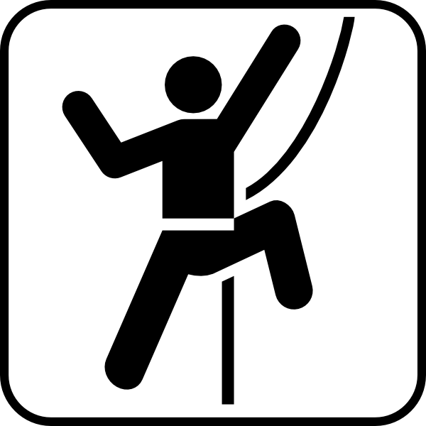 free vector Stone Or Hill Climbing clip art