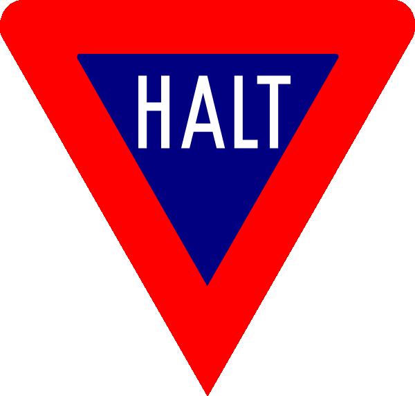 free vector Stop Halt clip art