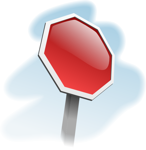 free vector Stop-sign-angled clip art