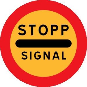 free vector Stopp Signal Sign clip art