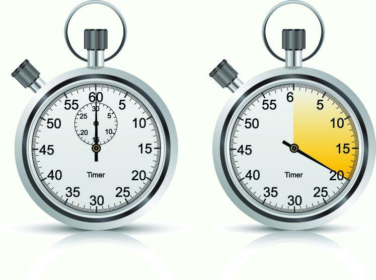 free vector Stopwatch clock vector