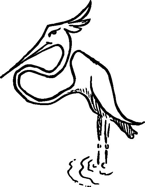 free vector Stork clip art