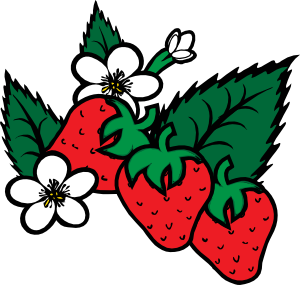 free vector Strawberries clip art