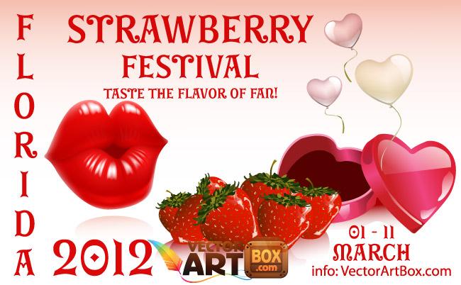 free vector Strawberry Festival
