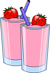 free vector Strawberry Smoothie Drink Beverage Cups clip art