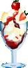 free vector Strawberry Sundae clip art