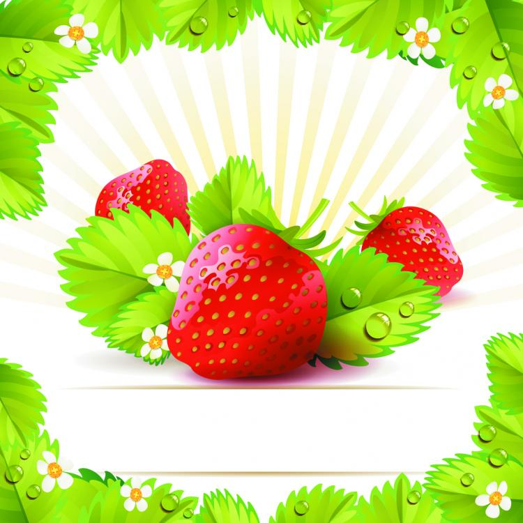 free vector Strawberry theme background 01 vector