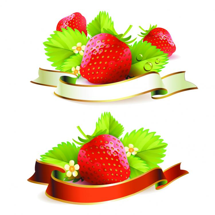 free vector Strawberry theme background 03 vector
