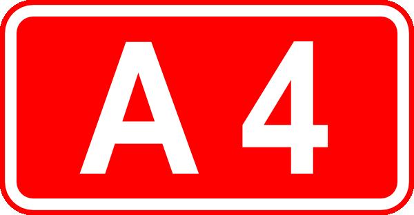 free vector Street Sign Label A4 clip art