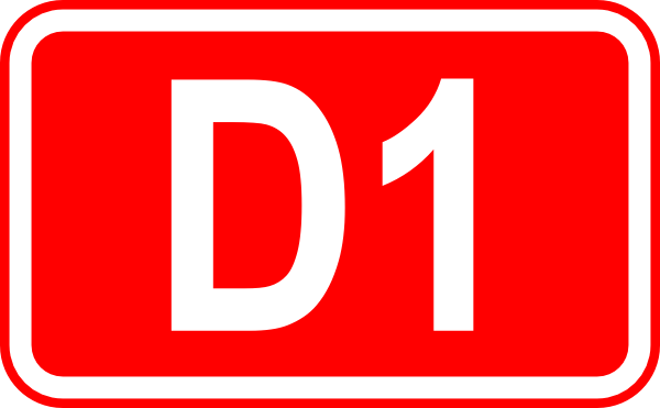 free vector Street Sign Label D1 clip art