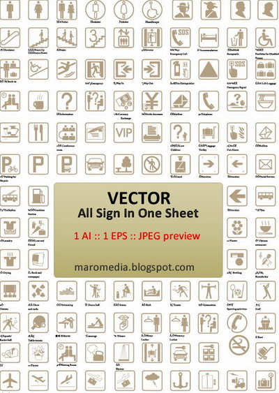 free vector Street signage elements of material