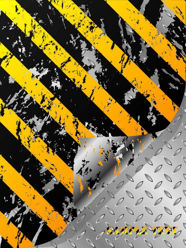 free vector Stripe construction design 04 vector