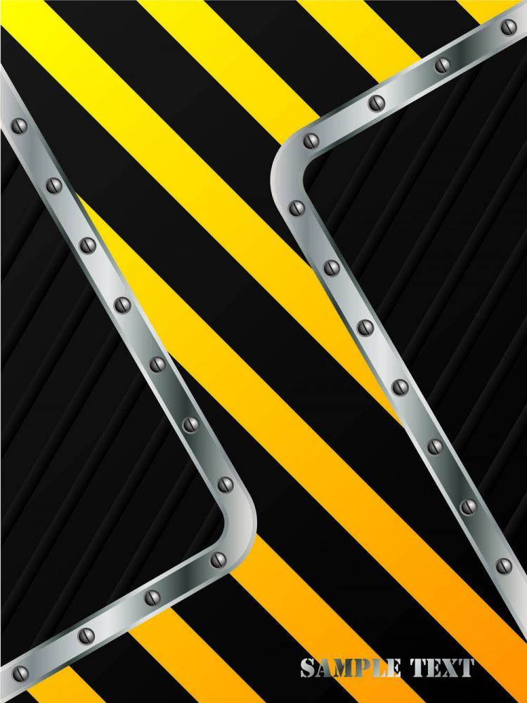 free vector Stripe construction design 05 vector