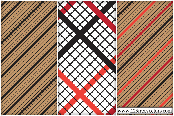 free vector Striped Checked Pattern Vector