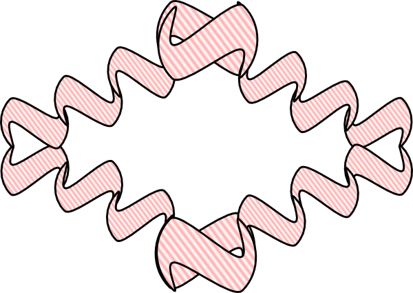 free vector Striped Ribbon clip art